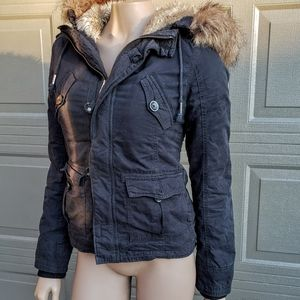 ARITZIA TNA FAUX FUR LINED JACKET